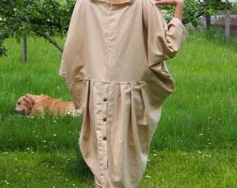 Over-sized Long Linen Tunic Midi Dress Plus Sizes Tunic Tunic Top & Nara LT021