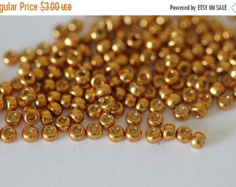20% OFF 8/0 Duracoat Galvanized Yellow Gold  #4203, Miyuki Seed Beads 8 grams (N-1B)