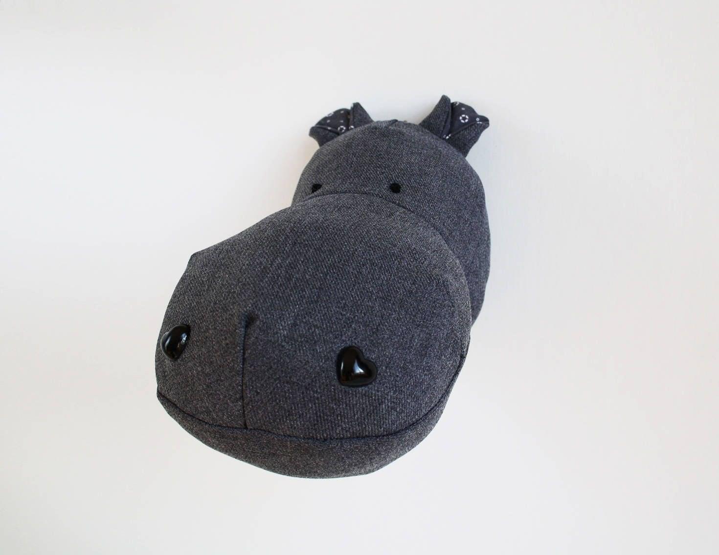 Oops Hippopotamus Wall Mounted Head Faux Taxidermy Hippo Head