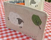 Travelcard Sleeve.  Oyster Card Holder.  Sheep design.
