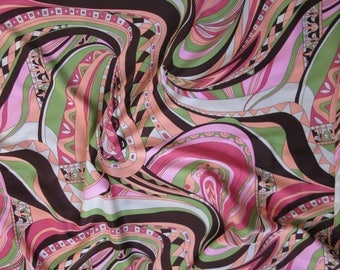 "fabric / 31"" x 54"" / Pucci style psychedelic"