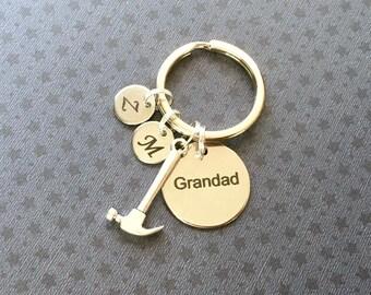 Personalised Grandad gift - Birthday gift for Grandad - Grandad keyring - DIY gift for Grandad - Carpenter gift - Stocking filler - Etsy UK