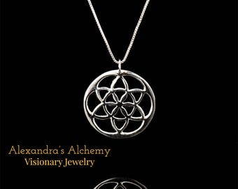 Seed of Life Pendant necklace/ sacred geometry necklace