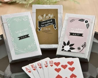Full Deck Of Playing Cards Crads Wedding Favors Personalized