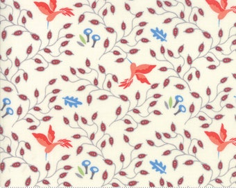 Moda Fabric - Bloomsbury Cream 47513 11 by Franny & Jane - Quilt, Quilting, Crafts