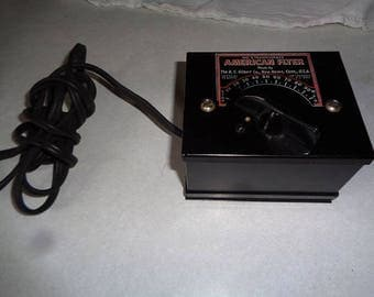 American Flyer electric train  transformer for O or S-gauge, clean,working, and nice