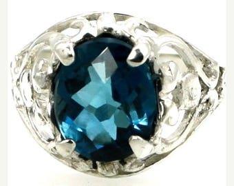 On Sale, 30% Off, London Blue Topaz, Sterling Silver Ring, SR004