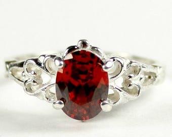 On Sale, 30% Off, Garnet CZ , 925 Sterling Silver Ring, SR302