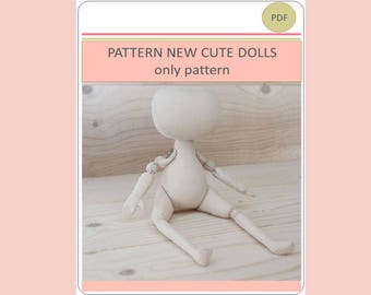 New Doll Pattern PDF ONLY PATTERN Pdf Download Printable Pattern Cloth Doll Pattern Sewing Patterns Pattern Doll Body Form Patterns