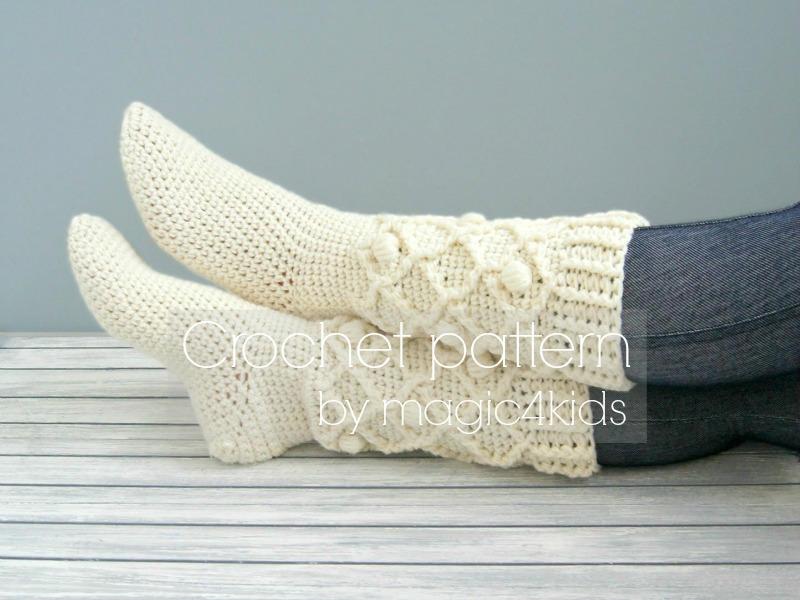tutoriel crochet chaussettes pour femmes en laine toutes. Black Bedroom Furniture Sets. Home Design Ideas