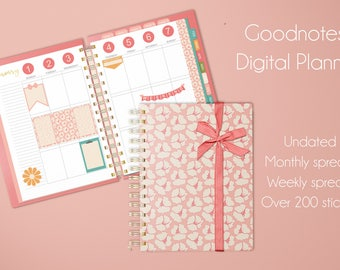 Goodnotes Planner,Planner Love, digital planner, Instant Download, calendar, monthly, weekly, iPad, tablet planner