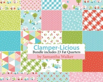 Glamper-Licious Fat Quarter Bundle by Samantha Walker for Riley Blake Designs