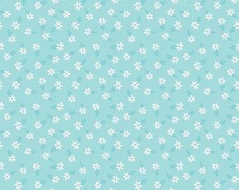 Glamper-licious Daisy Aqua Yardage C6315-Aqua by By Samantha Walker for Riley Blake Designs