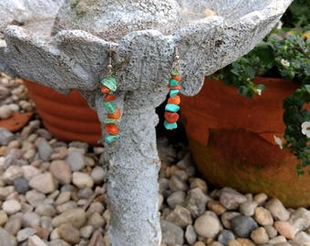 Stone bit earrings