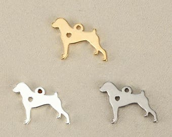 5pcs 15x19mm stainless steel dog Charms Pendants-animals charm-pet charm