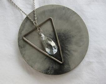 Vintage metal triangle pendant