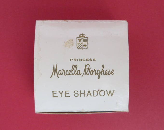 Vintage Marcella Borghese Eye Shadow - 1960s Platinum Oro Tone - New Old Stock - Borghese Collector's Eye Makeup