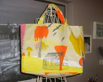 Fancy handcrafted bag made in france model old cabin Tote