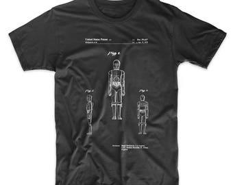 Star Wars C-3PO Patent T shirt, Star Wars Shirt, Movie Shirt, Starwars Gift, Star Wars Droid, Star Wars Characters, PP0195