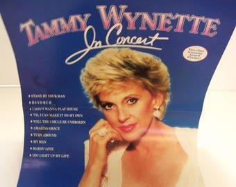 1986 Tammy Wynette Advertising Poster for her album Tammy Wynette in Concert