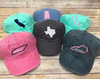 State Hat, state home hat, hat, home hat, texas, tennessee, alabama, california, texas hat, monogram hat, state monogram hat, womens hat