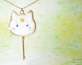 Sailor Moon Inspired Artemis Necklace