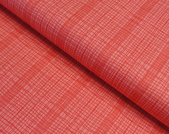 Jane Makower 'Discounted' Inprint Orange Check Toner Patchwork Quilting Dressmaking Fabric