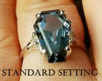Coffin Gem - 3ct Coffin Ring - Standard Setting