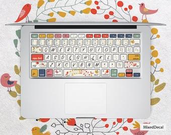 keyboard Stickers \ MacBook Keyboard Stickers \ MacBook Stickers  \ Laptop Keyboard Sticker \Mac Stickers\ Happy Birds