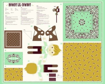 Howdy - Cowboy Panel by Stacy lest Hsu for Moda, 20557 11