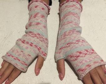 women fingerless women gift gloves Mittens Long Arm Warmers Boho Glove rainbow gloves Wrist long arm warmers Ready to ship!