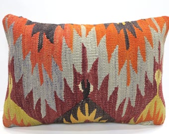REDUCED! Kilim pillow cover 20x14 lumbar, removable