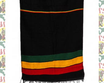 Ethiopian Traditional Woven Cotton Shawl (Scarf-a18)