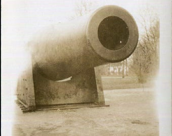 Vintage Snapshot Photo of a Cannon 1930's, Original Found Photo, Vernacular Photography