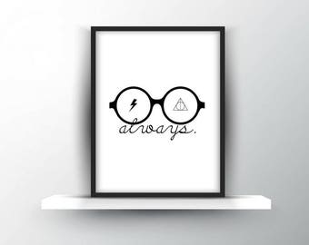 Harry Potter | Glasses + Deathly Hallows Symbol + Scar | Digital Download