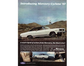 Vintage poster advertisement of a 1967 Mercury Cyclone - 27