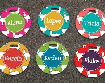 Personalized ALPACA Patterned Luggage Tag - Personalized Luggage Tags