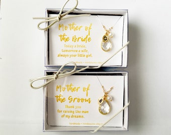 Mother of the Groom Gift from Bride, Mother of Groom Necklace, Mother of the Bride gift from daughter, Mother of the groom gift, crystal