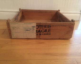 French Crate/French wood crate/Pottery Crate/Poterie crate