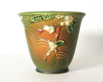 "Roseville Pottery Snowberry Flower Pot 1PS-5"" Vintage 1940""s"