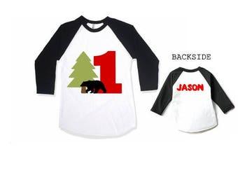 Lumberjack, First Birthday, Buffalo Plaid, ONE, Birthday Shirt, Birthday Outfit, Plaid Birthday, Top,Plaid, Boys Plaid Birthday