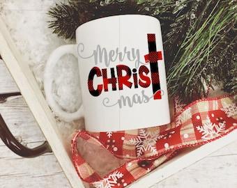 Merry christmas mug | Etsy