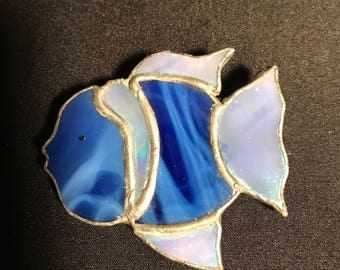 Brooch Stain Glass Fish
