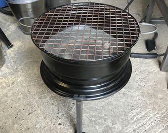 Bbq Steel Wheel Firepit.