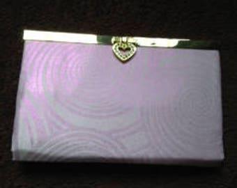 Petal pink swirl purse
