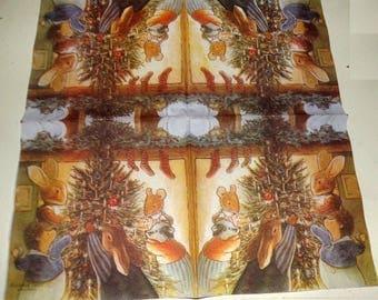 RARE 1 FOXWOOD TALES Christmas tree paper towel