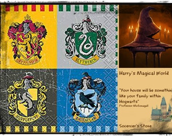 Harry's Magical World Choice of 3 WIP Project Bags, Pick Your Size & Bag w/Stitch Markers, Sorcerer's Stone, Goblet of Fire, Deathly Hallows