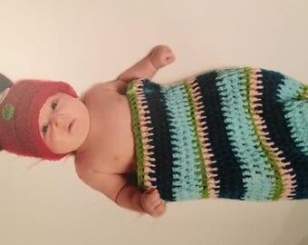 Baby Caterpillar Costume - Newborn Photo Outfit - Newborn Costume - Baby Photo Outfit - Baby Caterpillar