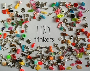 Tiny I Spy trinkets for small I spy bag/bottle, no doubles, 0.5-2cm, Set of 20/50/100