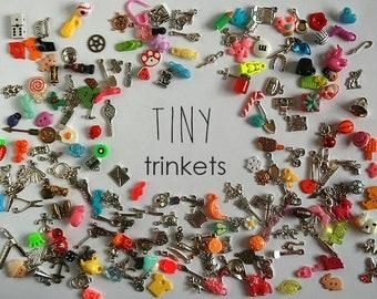 Tiny I Spy trinkets for small I spy bag/bottle, no doubles, 0.5-2cm, Set of 20/50/100